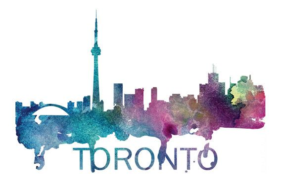 Toronto Art, Toronto Skyline, Toronto map, Toronto skyline, Toronto map print  A beautiful Watercolor Art print of Toronto, Ontario. Perfect