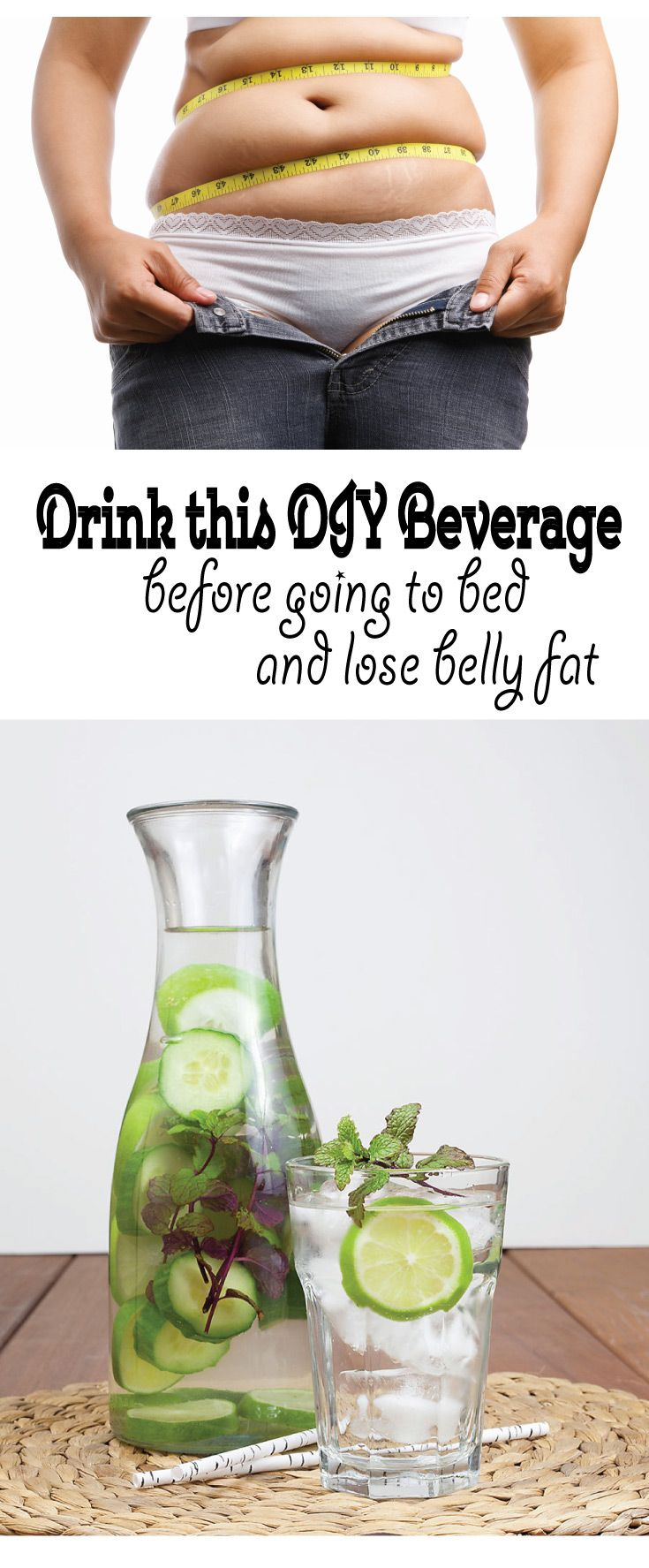 drink this DIY Beverage before going to bed and lose belly fat