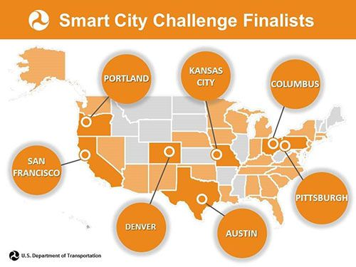 mart City Challenge Finalists Map