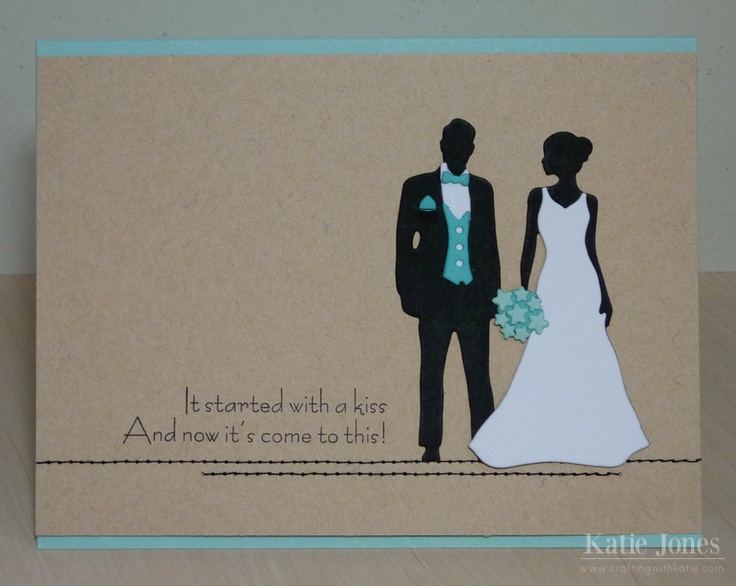This is beautiful.  PTI  Crafting with Katie: Wedding Card