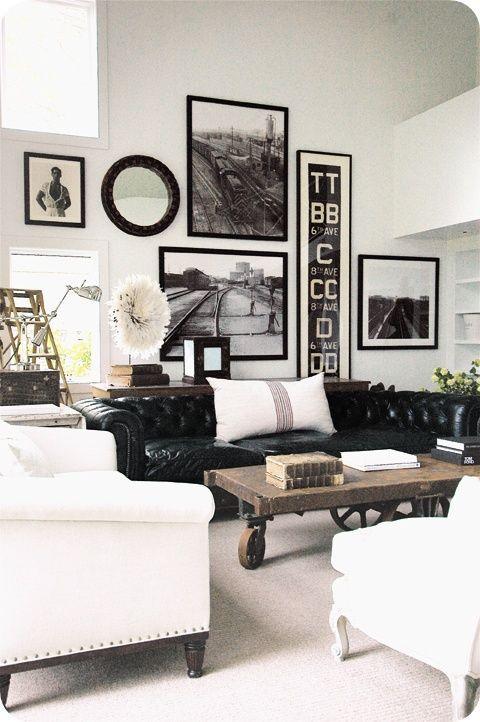 英国の伝統的なチェスターフィールド・ソファがある上質なインテリア空間 58  賃貸マンションで海外インテリア風を目指すDIY・ハンドメイドブログ<paulballe ポールボール>