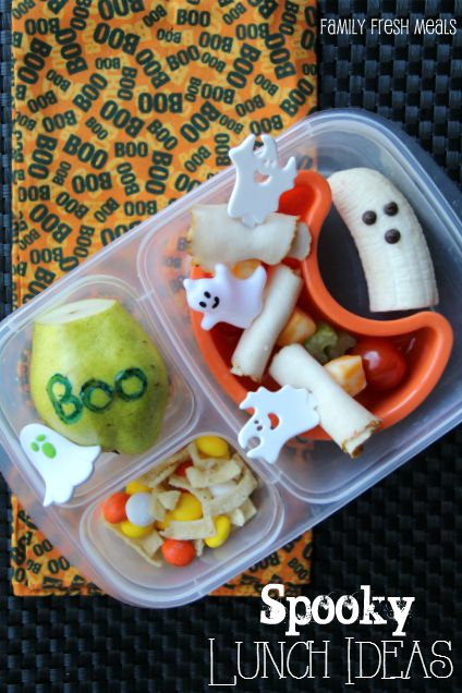 Fun Halloween Lunchbox Ideas for Kids -- Ghost Lunch #easylunchboxes