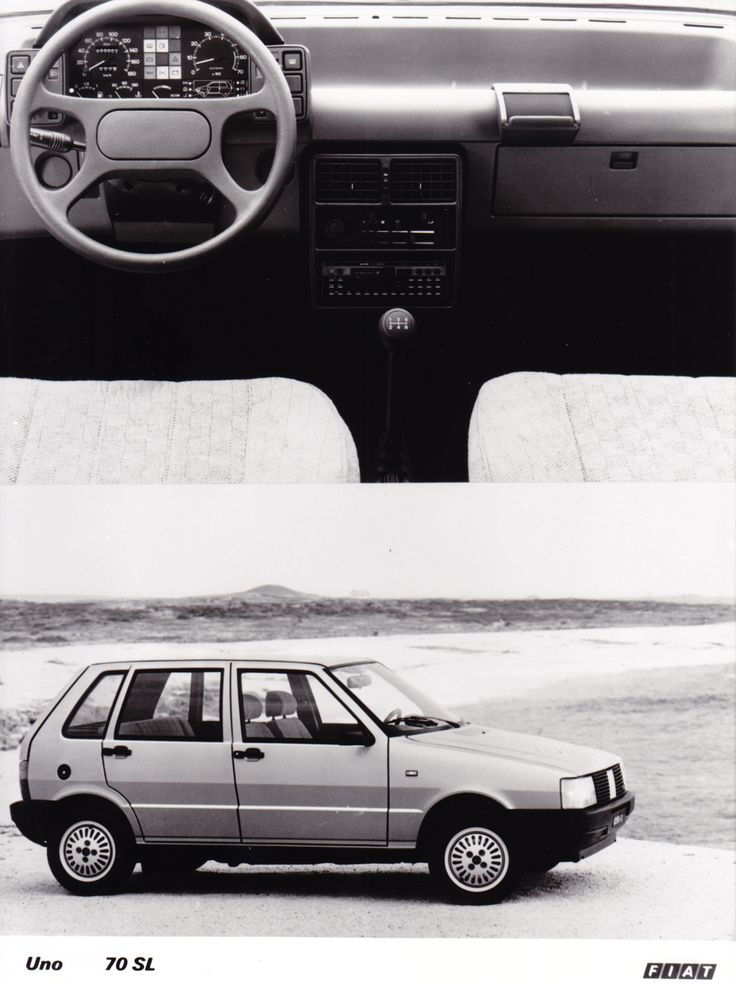 Fiat Uno 70 SL (Salon Brussels, 1/86)
