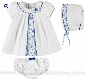 Dress, Panties and Bonnet - MAYORAL 1850 - Little Cherubs Clothing