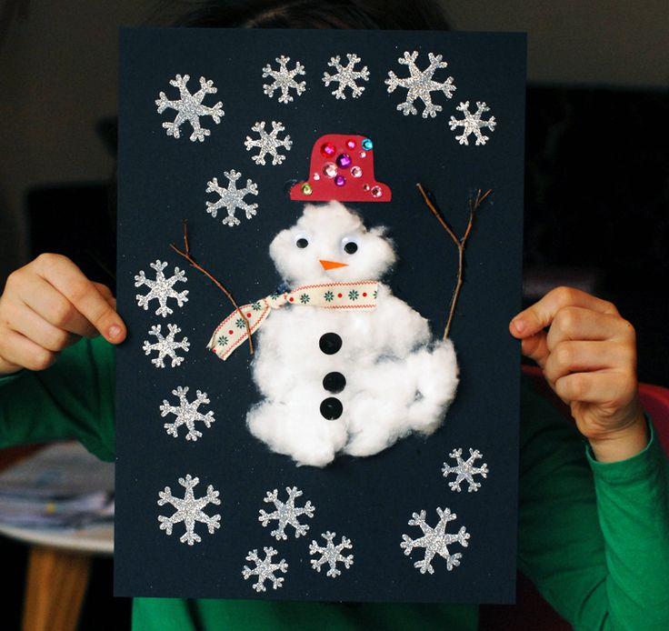Bonhomme de neige d'Eva   Jouonsensemble.fr