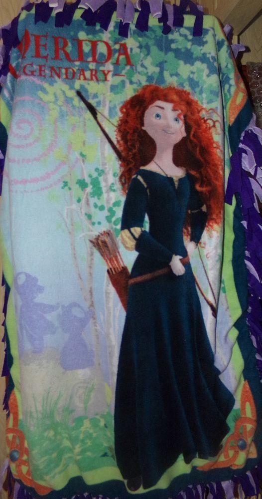 SALE ...  Disney Princess Merida Tie Knot Blanket multicolor fleece #Disney