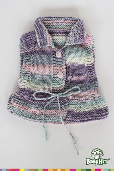Chaleco tejido con cordón varios colores. Tallas de 0-3 y 3-6 meses.
