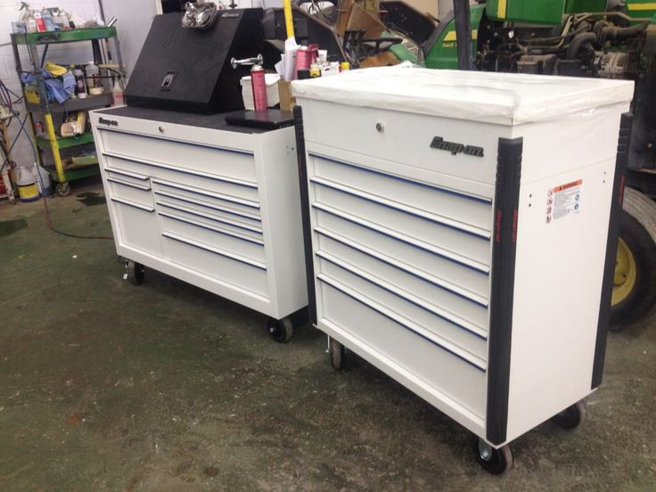 Snap on tool box in white