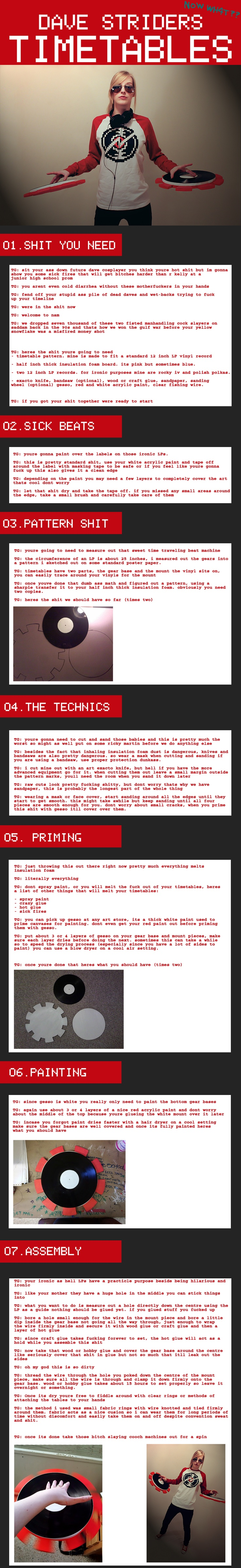 Dave Strider Timetable Tutorial by lunarumms.deviantart.com on @deviantART