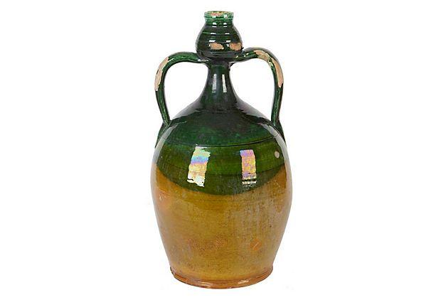 "Olive Oil Jug  -  EUROPE2YOU  -  5"" x 9.5"" x 5""  -  OneKingsLane.com  -  ($125.00)  $75.00"