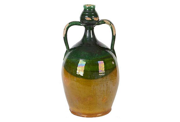 "Olive Oil Jug  -  EUROPE2YOU  -  5"" x 9.5"" x 5""  -  OneKingsLane.com  -  ($125.00)  $75.00"