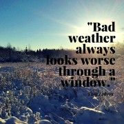 Winter trail running. Inspirational quote.