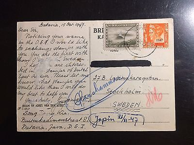 Indonesia - Netherlands East Indies 1947, Post Card from Batavia to Sweden VF | eBay