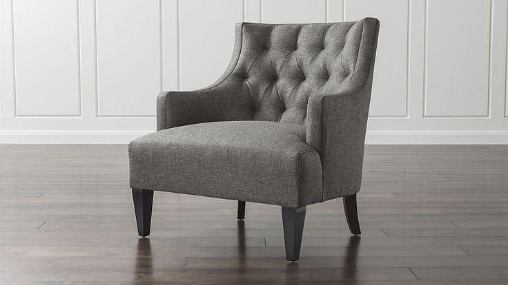 "($1099) Tess Chair - Ash color - 35"" H x 32"" W x 33"" D, 17"" seat height (25"" W x 22"" D)"