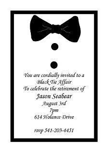 retirement party invitations bowtie retirement invitations