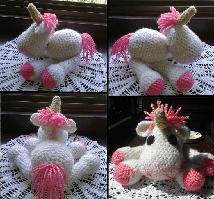 Amigurumi Unikornis...:D Minta: http://www.ravelry.com/patterns/library/amigurumi-unicorn-2
