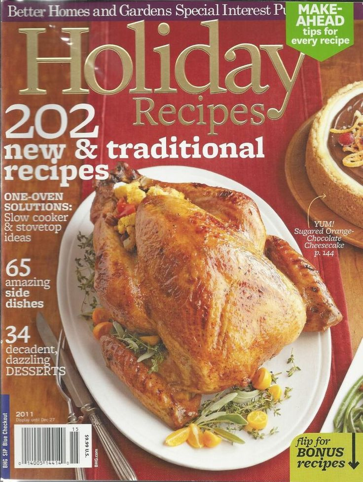 Holiday Recipes magazine Turkey Slow cooker Side dishes Desserts Cheesecake