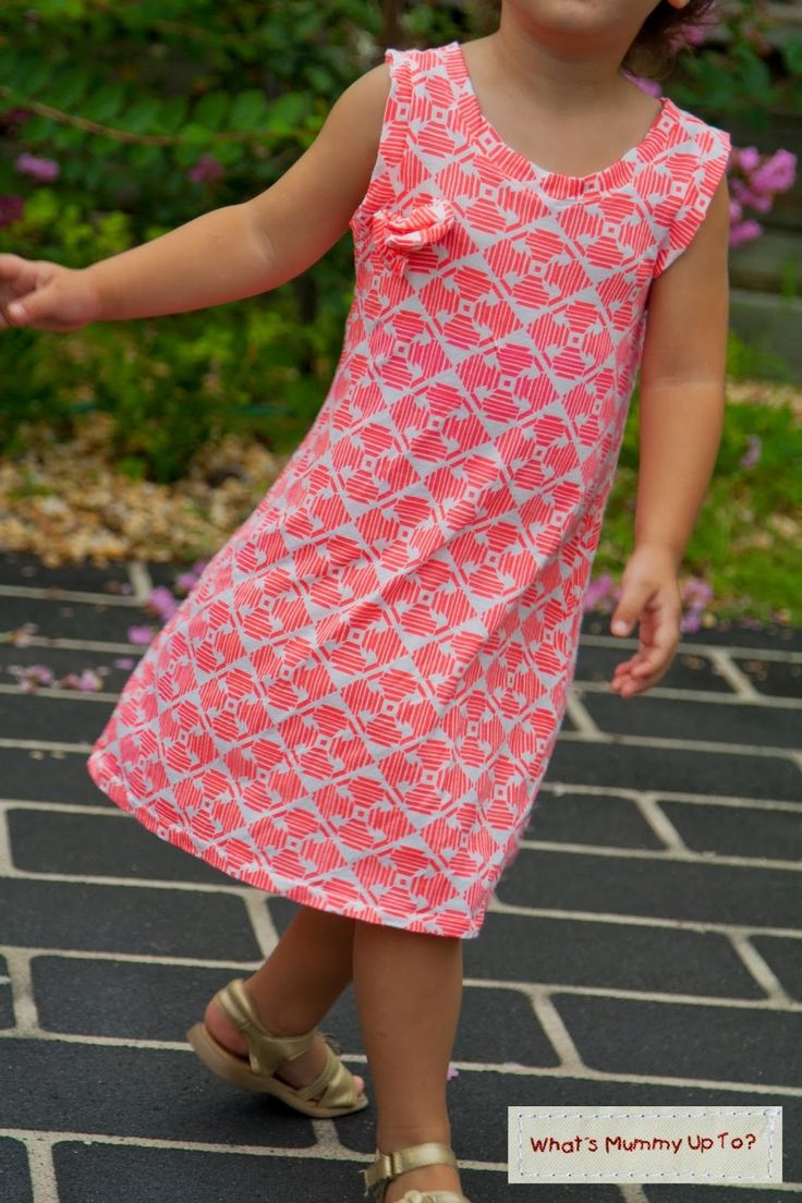 Simple A-Line Dress - A stunning girls dress pattern DIY that is simple and will fit comfortably.
