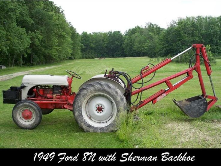 Sherman Backhoes For Ford Tractors : Sherman ford n loader parts tractor engine and