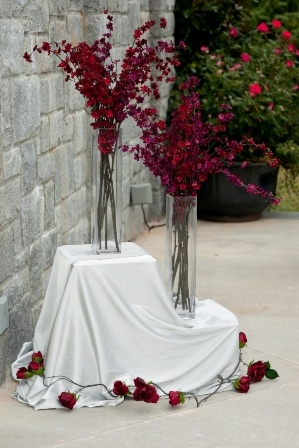 Red & Purple Cherry Blossom Stems :  wedding Ajayi 0575