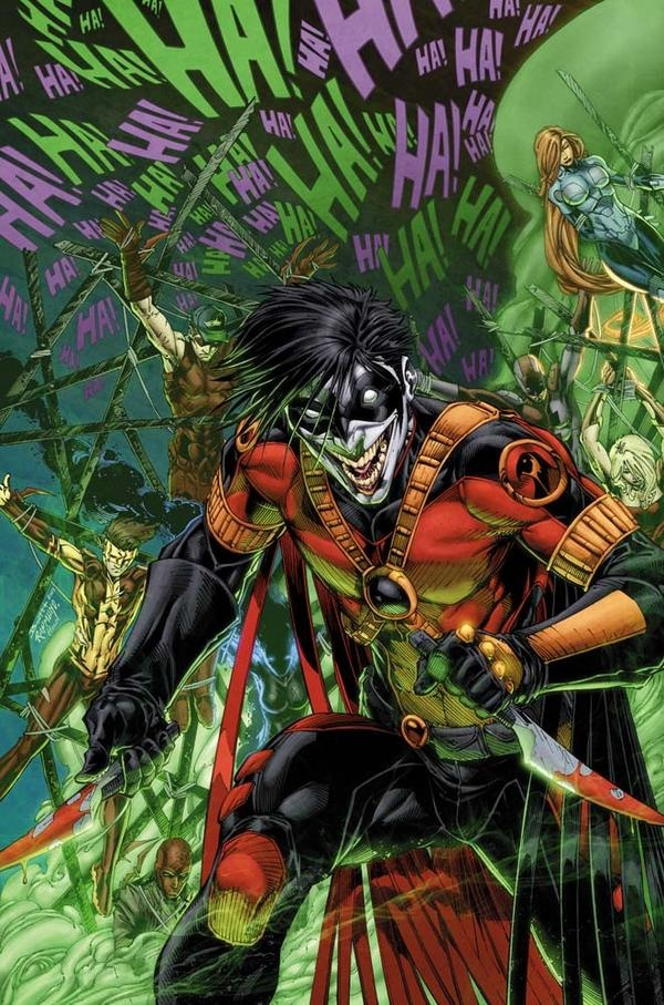 Teen Titans - Death of the Family: Gotham Runs Red! The Titans must deal with victims of the Joker Toxin, possibly even one of their own...