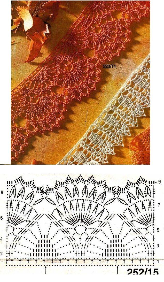 #76_AUTUMN Crochet Edging and Diagram