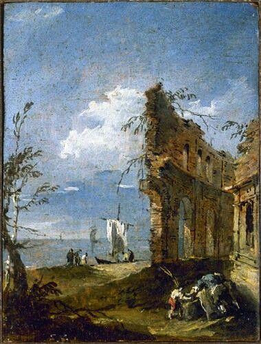 Capriccio con rovine di acquedotto romano. 1770. Accademia Carrara