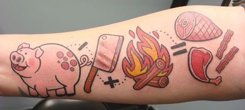 The Pig Equation: The Craziest Bacon Tattoo Ever!