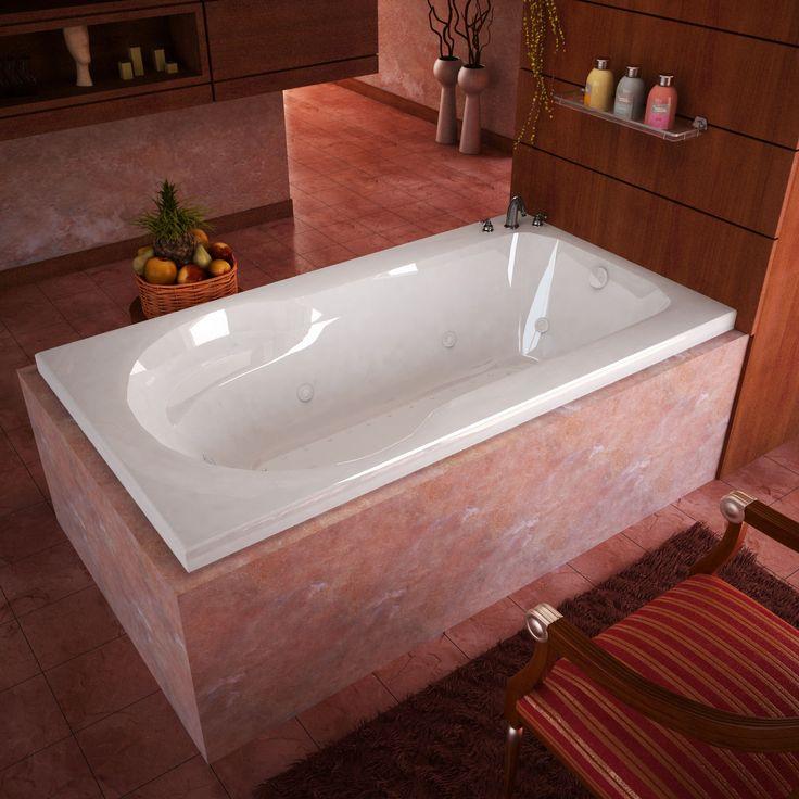 Venzi VZ3260ZDR Elda 32 x 60 Rectangular Air & Whirlpool Jetted Bathtub with Right Drain