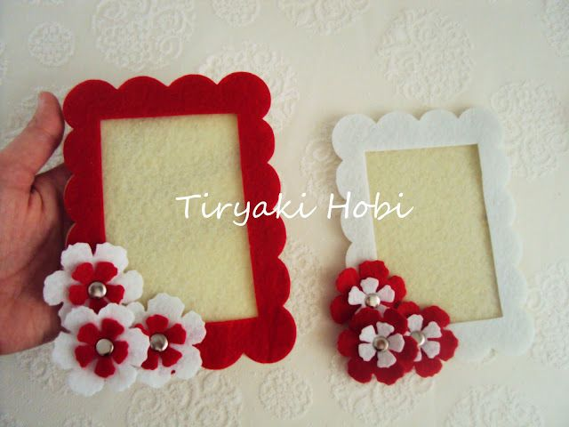 wedding party gifts <3  felt frame magnets
