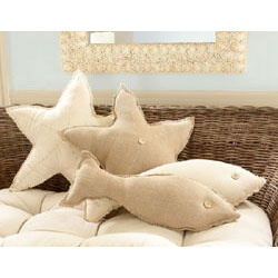 Nautical by Nature: Go Fish pillows