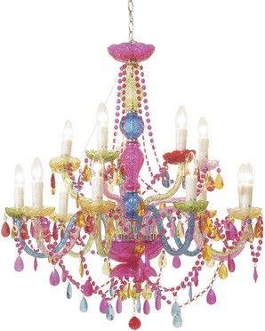 Lampa Gioiello Crystal Rainbow 14-arms