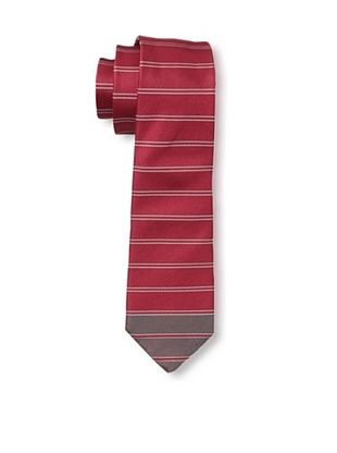 61% OFF Valentino Men's Tip Stripe Tie, Red