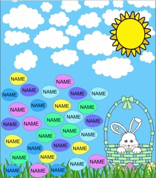 FREE Your students will enjoy picking on their names and watching them disappear with this Easter egg Smartboard themed unit.I have also included a ...
