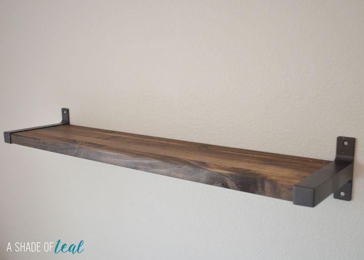 Best Rustic Diy Bookshelf With Ikea Ekby Brackets Stair 640 x 480