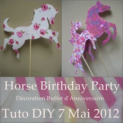 horse themed birthday party | Horse Birthday Party - Carte d'invitation - Tuto DIY - Que Cache Ma ...
