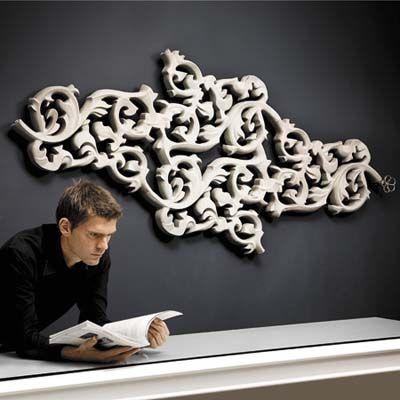 Joris Laarman's Radiator-Art (yeah, that's a radiator on the wall!) (Photo: jaga.be)