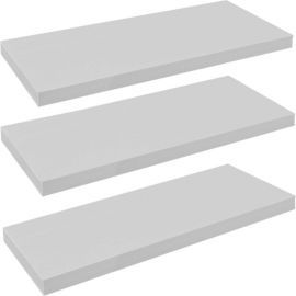 Buy Harbour Housewares Pack of 3 Floating Wooden Wall Shelves 80cm - White from our Wall Shelving range - Tesco