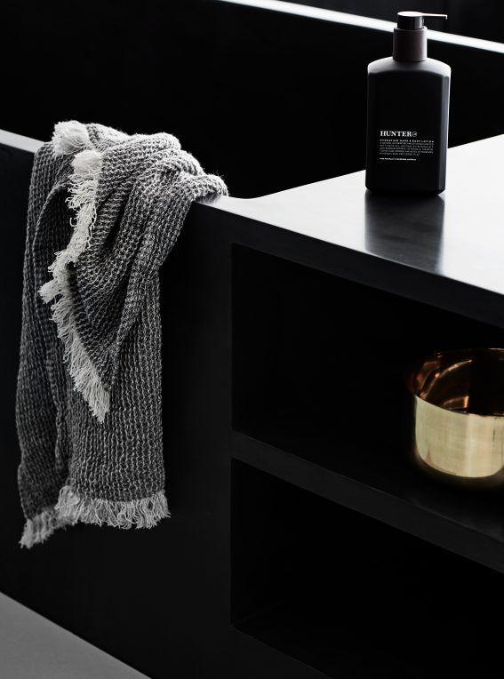 Deep-soak, stone Japanese bath + Hunter Lab amenities