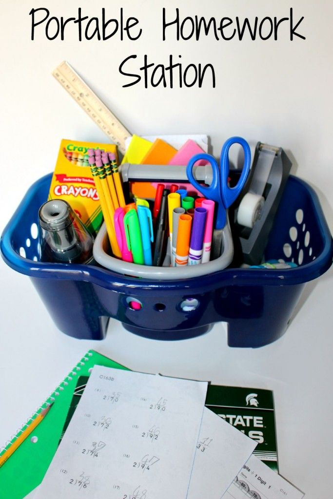 Portable Homework Station - always have your supplies in one place