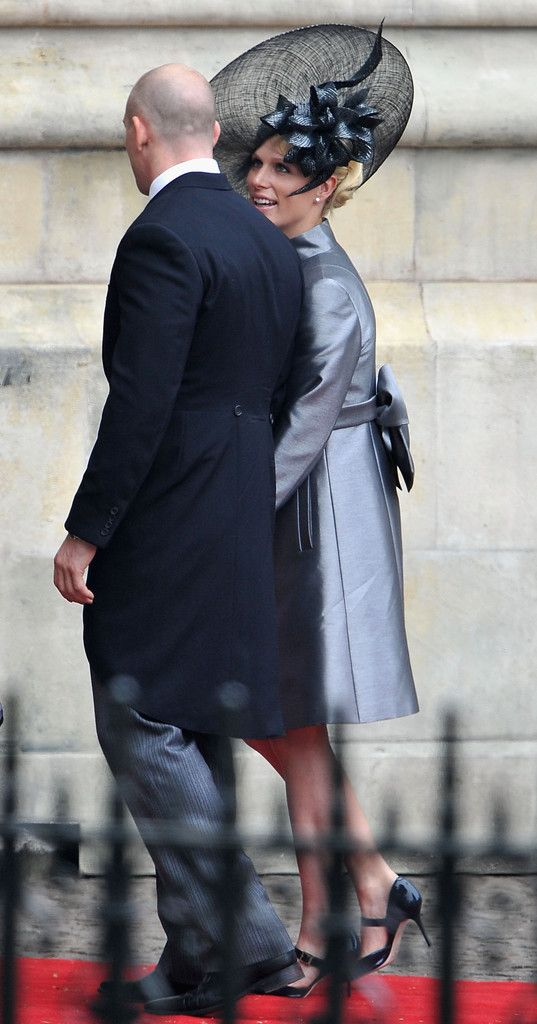 Zara Phillips and fiancé Mike Tindal at the wedding of her cousin Prince William and Kate Middleton