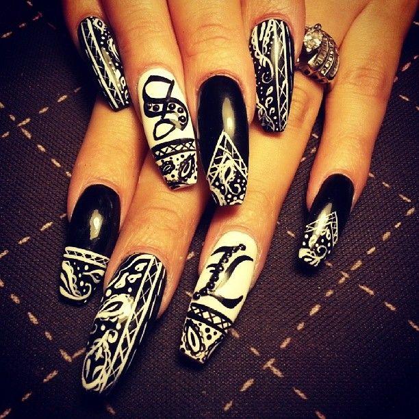 bandana nails <3
