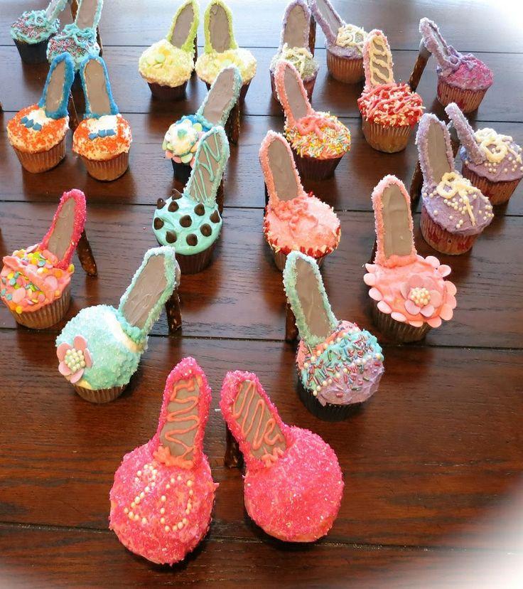 How to make cupcakes look like high heel shoes 9