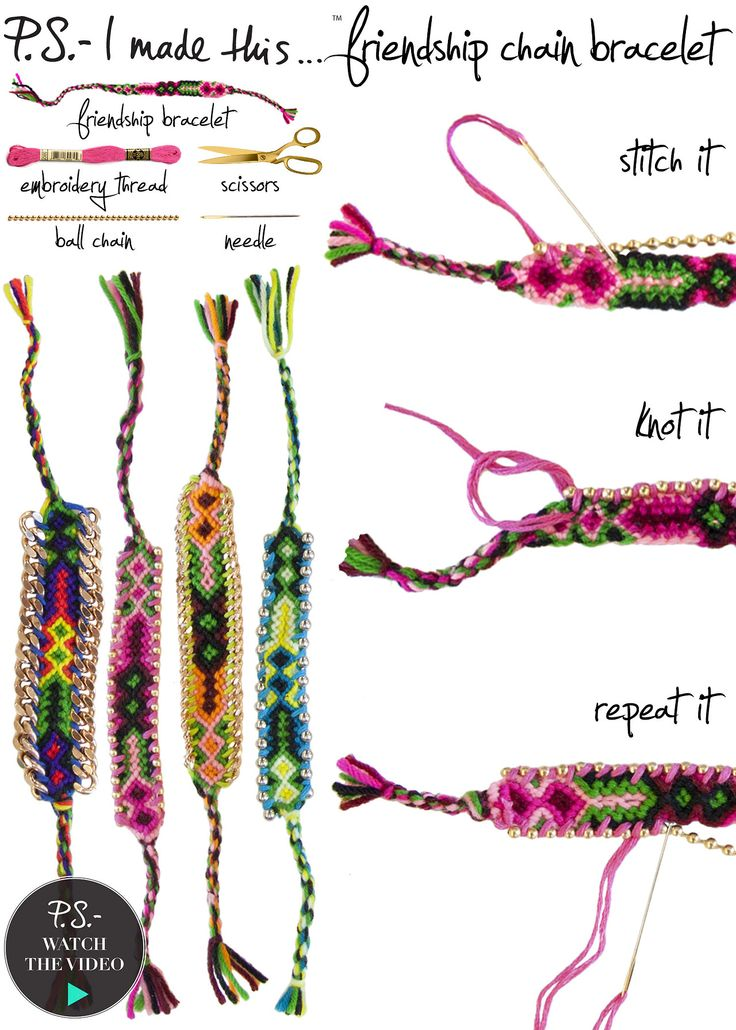 P.S.- I made this...Friendship Chain Bracelet #DIY #PSIMADETHIS #BFF #BRACELET