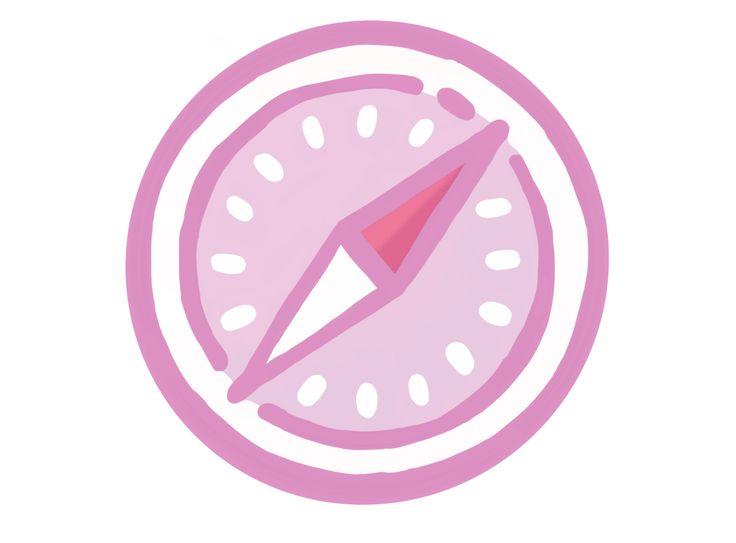 Pink Safari Icon In 2020 App Icon Iphone Icon App Store Icon