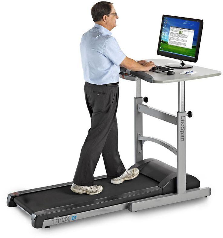 Lifespan Fitness Walking Treadmill Desk W Height