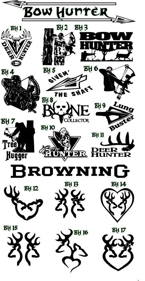 Best Hunting Fishing Decals Images On Pinterest Custom - Hunting decals for truckshuntingfishing window decals in white or camouflage at woods