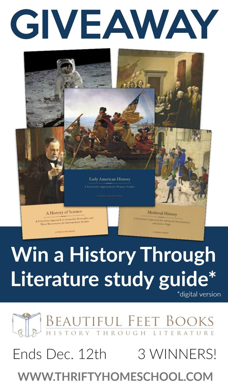Beautiful Feet Books Giveaway - enter to win a digital History Through Literature study guide. #homeschoolgiveaway #thriftyhomeschool