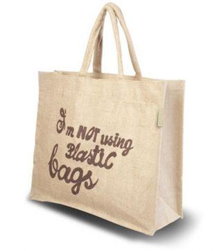 Jute 'Slogan'-tas 47x15x38cm - Onze Tassen - Tassen.nl - Klasse in bedrukte tassen en onbedrukte tassen! (TIP)