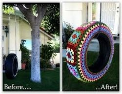 How to use old tires as garden decor! #upcycling #reuse #DIY  If you see an idea anywhere chances are we can make it, or we know someone who can! Just visit us on our facebook page or call us 765-744-1080 (10:00am to 6:00pm EST)  Find out more about me at: https://www.facebook.com/pages/Rustic-Farmhouse-Decor